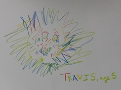 Travis' drawing of the Lion from the book of Daniel